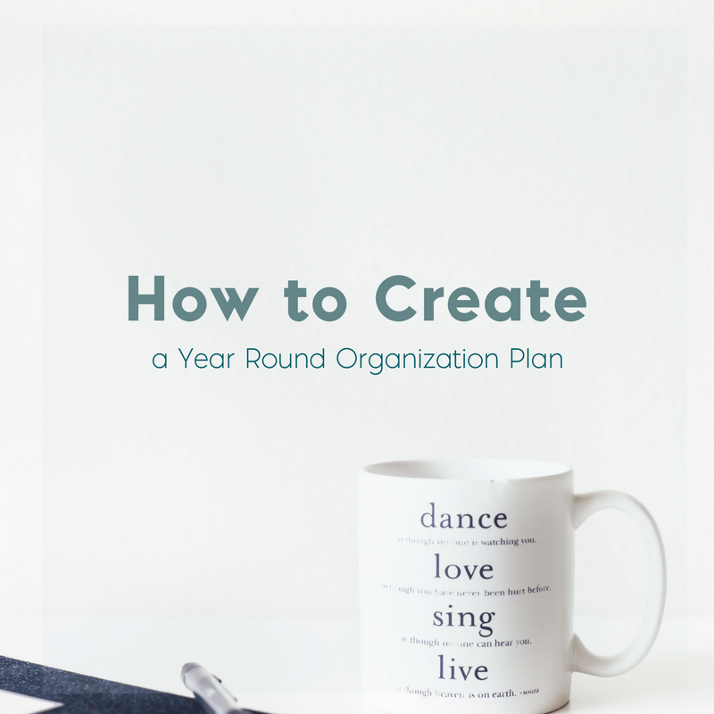 How to Create a Year Round Organization Plan 1