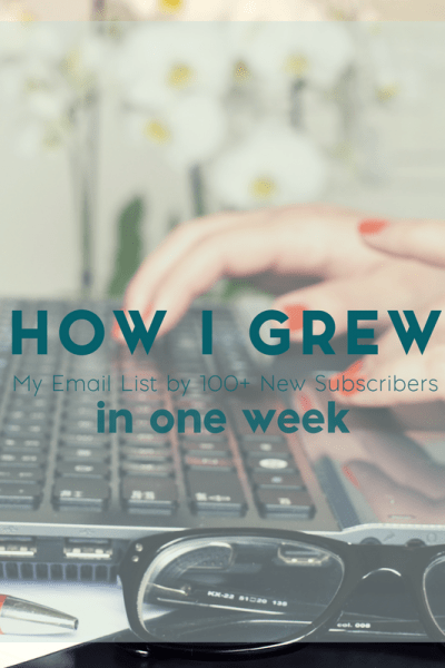 One Simple Strategy that I Used to Grow My Email List