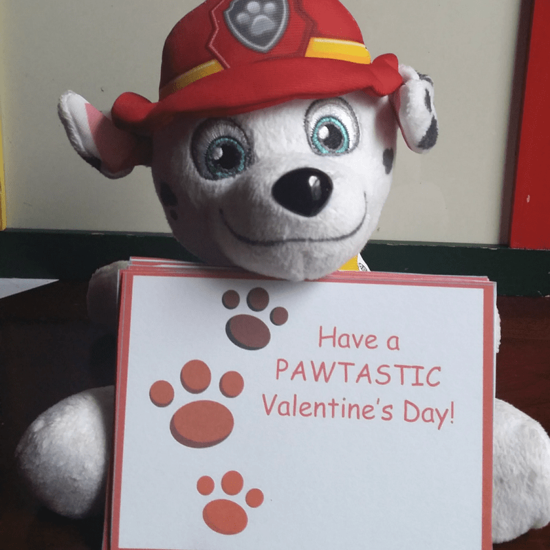 Free Printable Paw Patrol Inspired Valentine's Day Cards