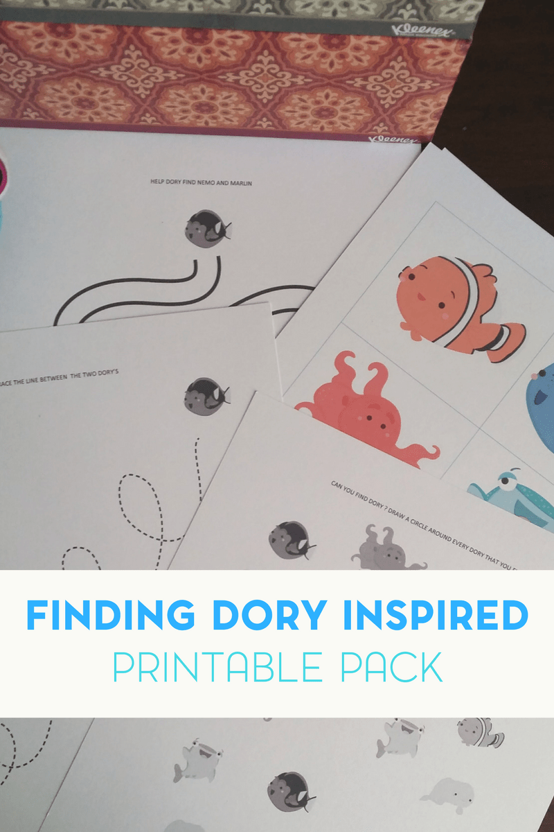 Finding Dory Inspired Printable Pack for a Mommy and Me Playdate 1