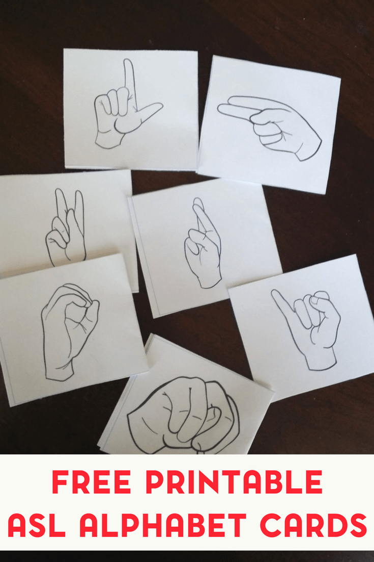 graphic relating to Printable Sign Language Alphabet named No cost Printable American Indicator Language Alphabet Flashcards
