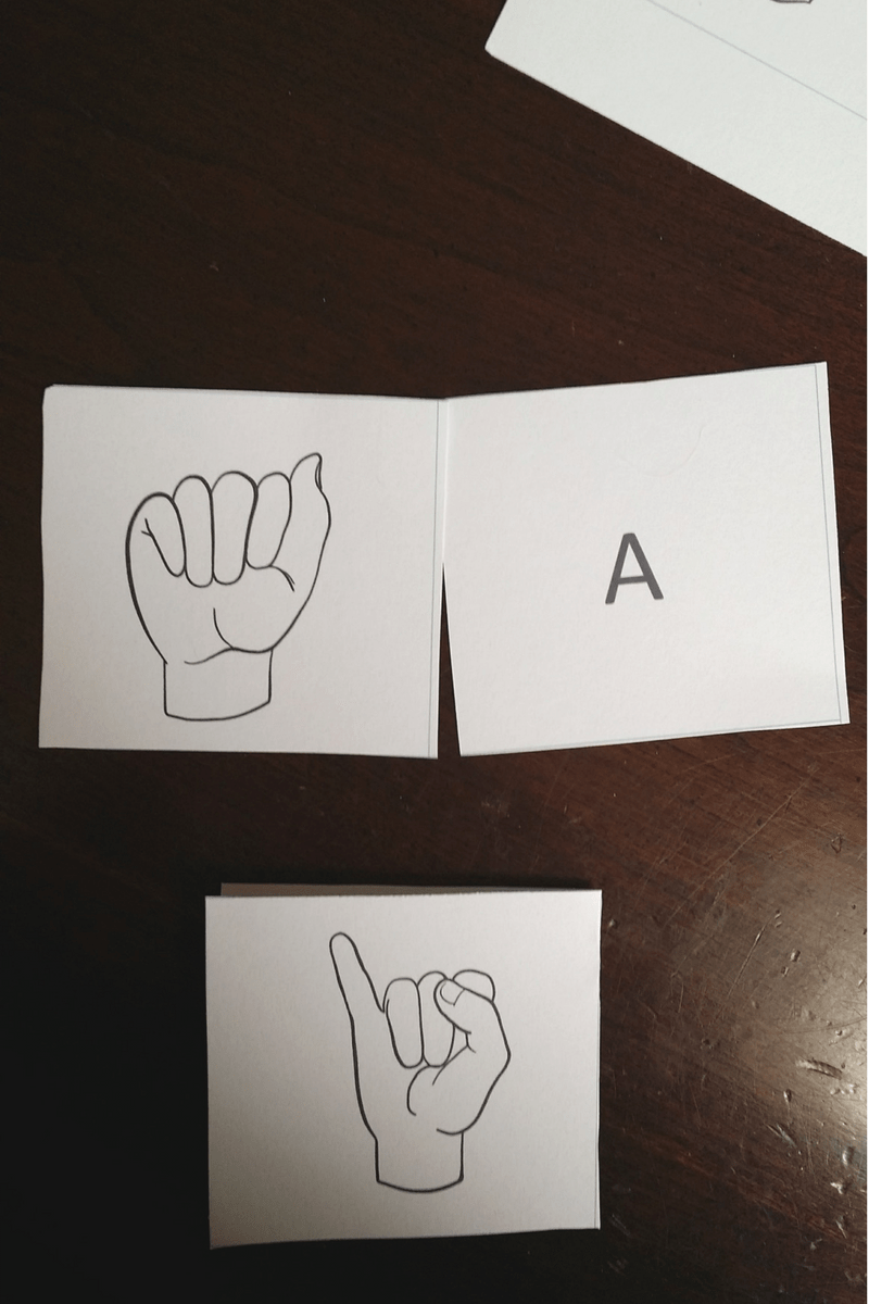Free Printable American Sign Language Alphabet Flashcards 4