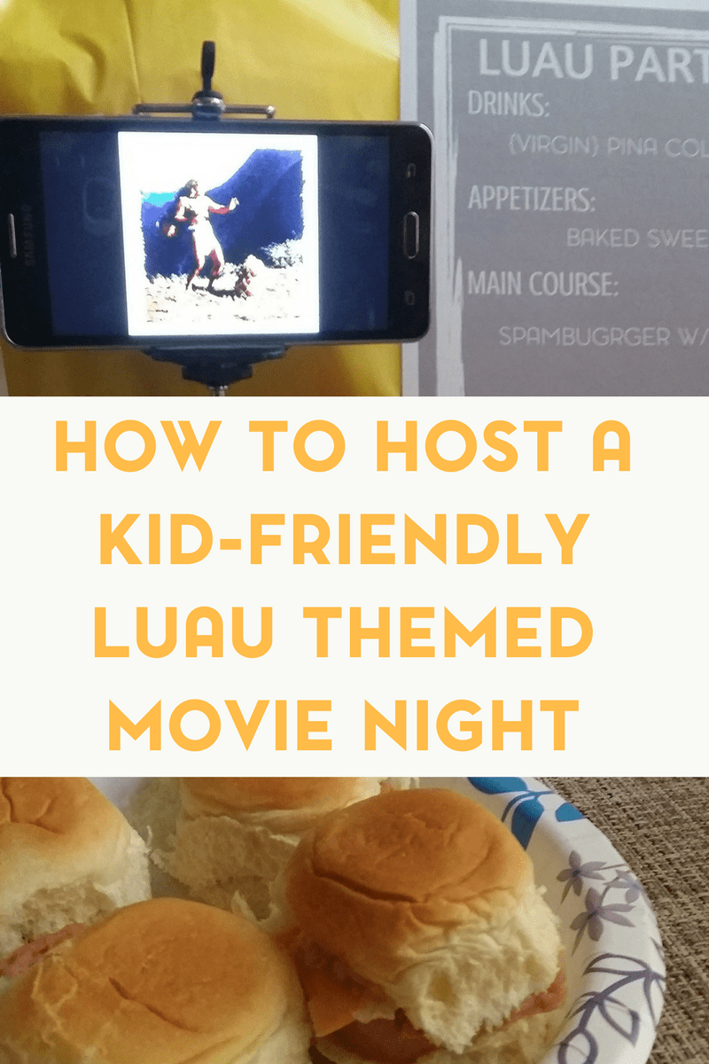 Looking for a fun family movie night idea? Check out our tips for a kid friendly luau theme.
