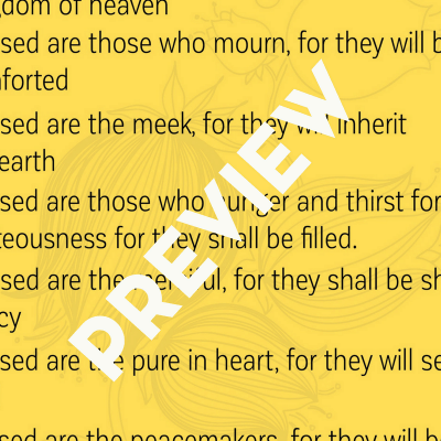 Free Printable Beatitudes Wall Art and a Brief Lesson on Mercy