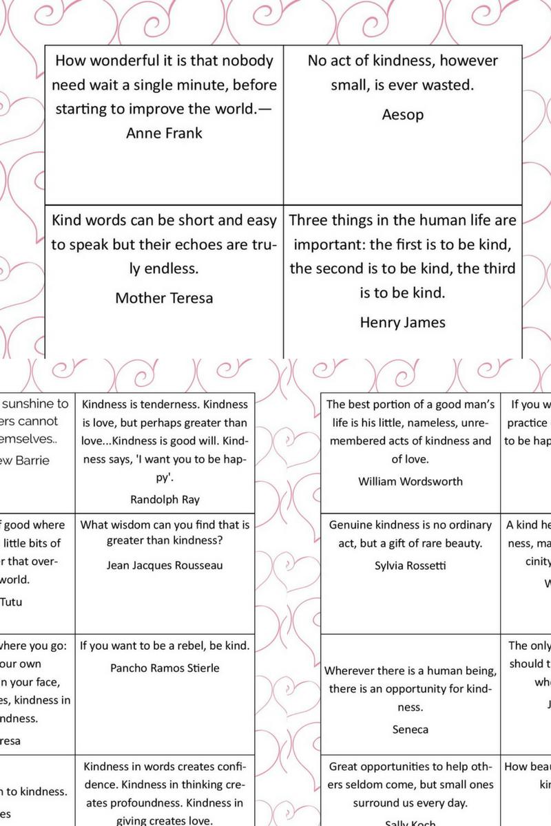 How Printable Kindness Cards Can Help Teach Kids Values 4