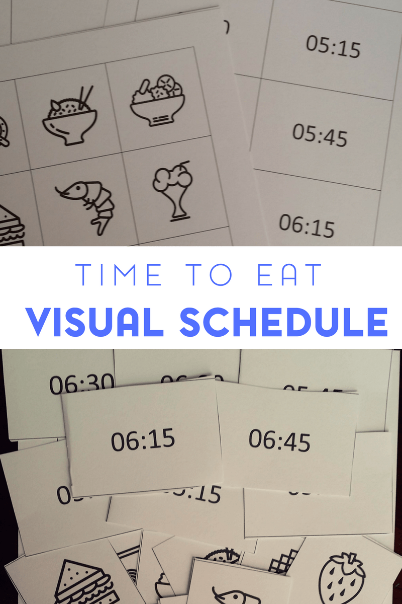 Visual schedules can be incredily useful in helping to frame an autistic child's day. This includes meal times. And this visual schedule was specifically designed to help with structuring meals.