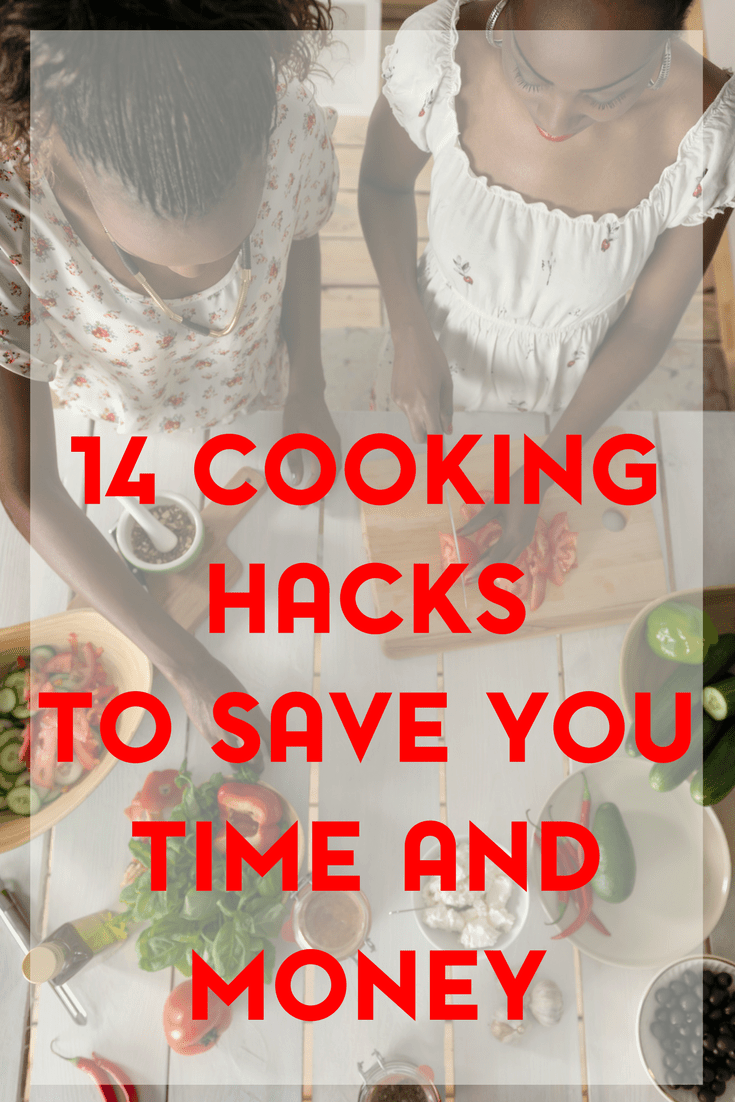 You can save time and money in the kitchen with these 14 cooking hacks.