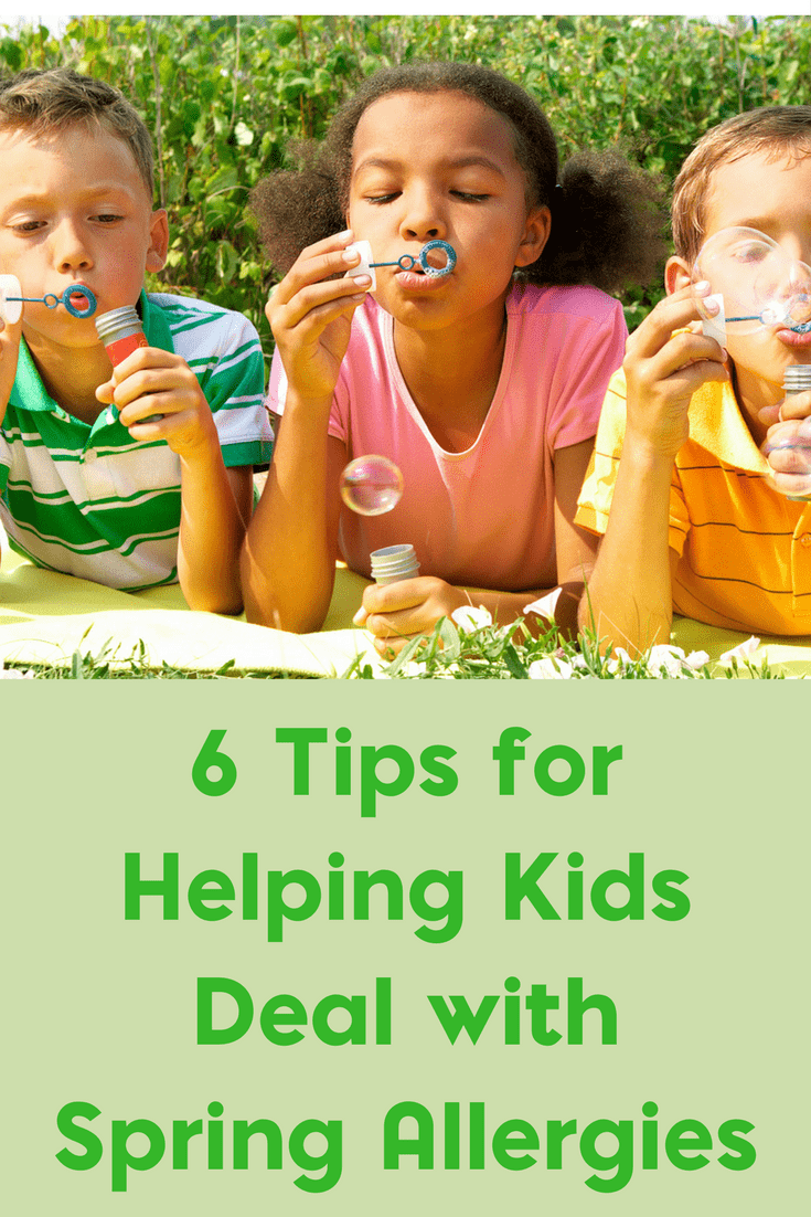 Do you have children with seasonal allergies? Be sure to check out these 6 tips for helping kids deal with allergies.
