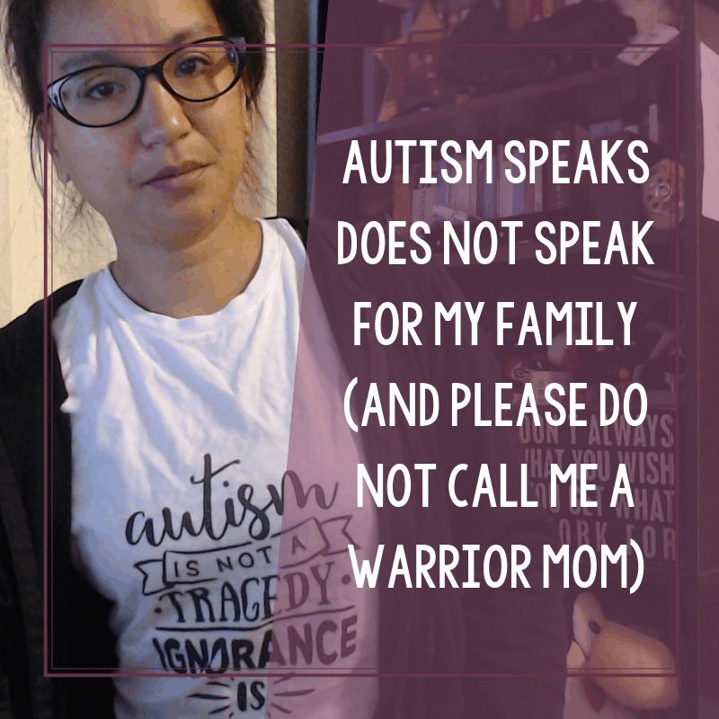 Autism Speaks (and Jenny McCarthy) Do Not Speak for Me and My Family 8