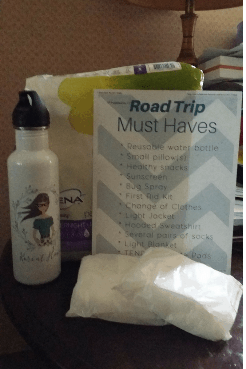 If you have health issues, and ladies you probably know what I mean, be sure to check out my must have road trip items for moms.