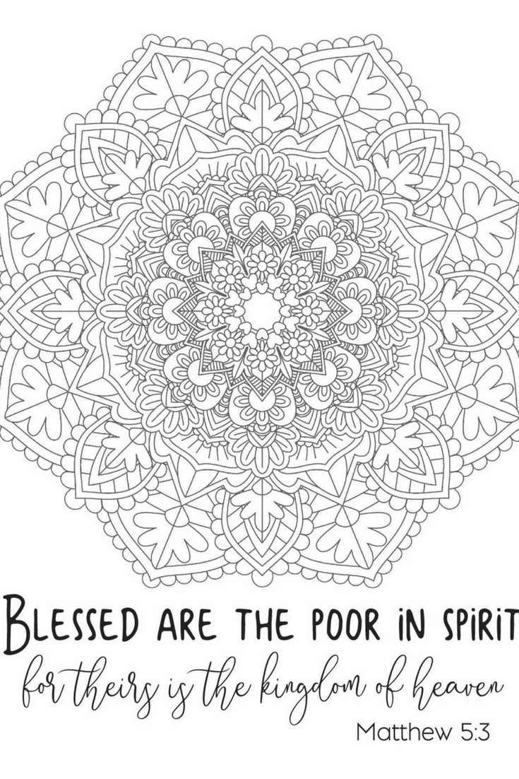 Looking for a little faith based stress relief? Check out my free printable Beatitude based coloring page.
