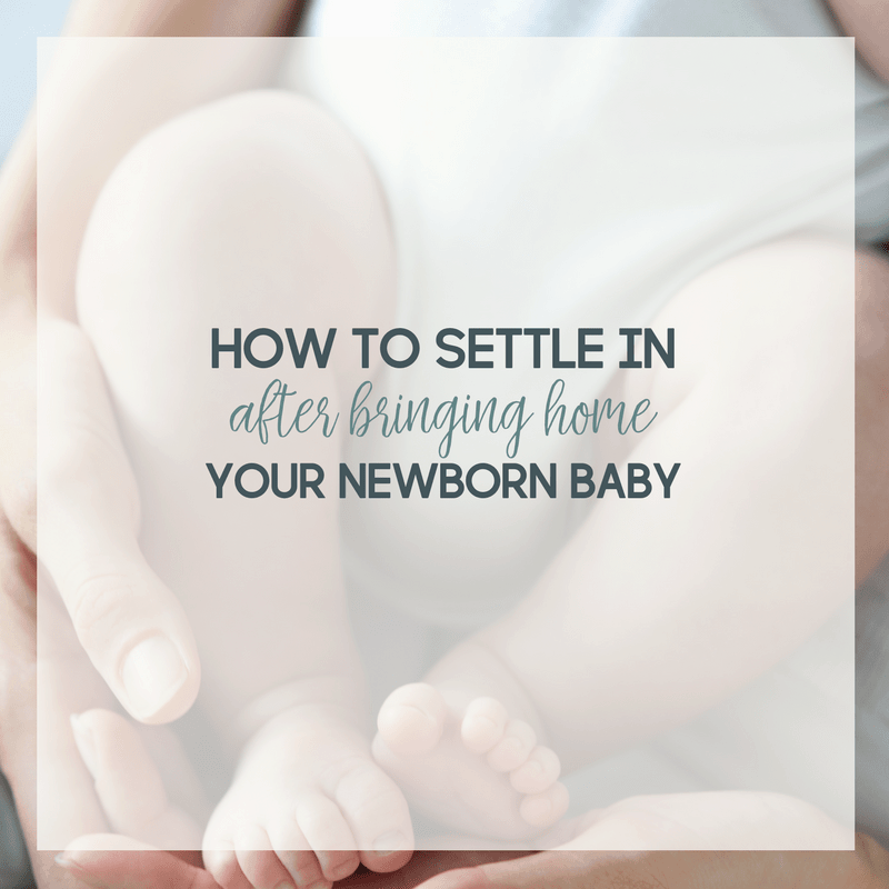 Advice and tips for how to settle in after bringing home your newborn baby.