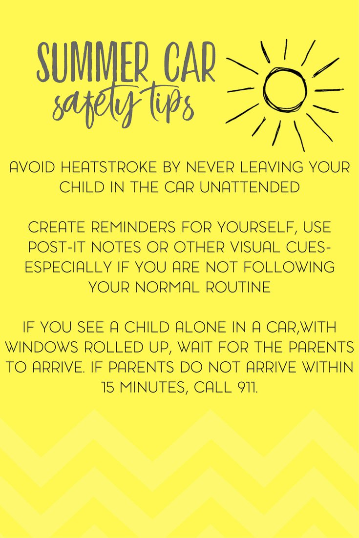 How to Keep Your Child Safe and Cool in the Car this Summer 2