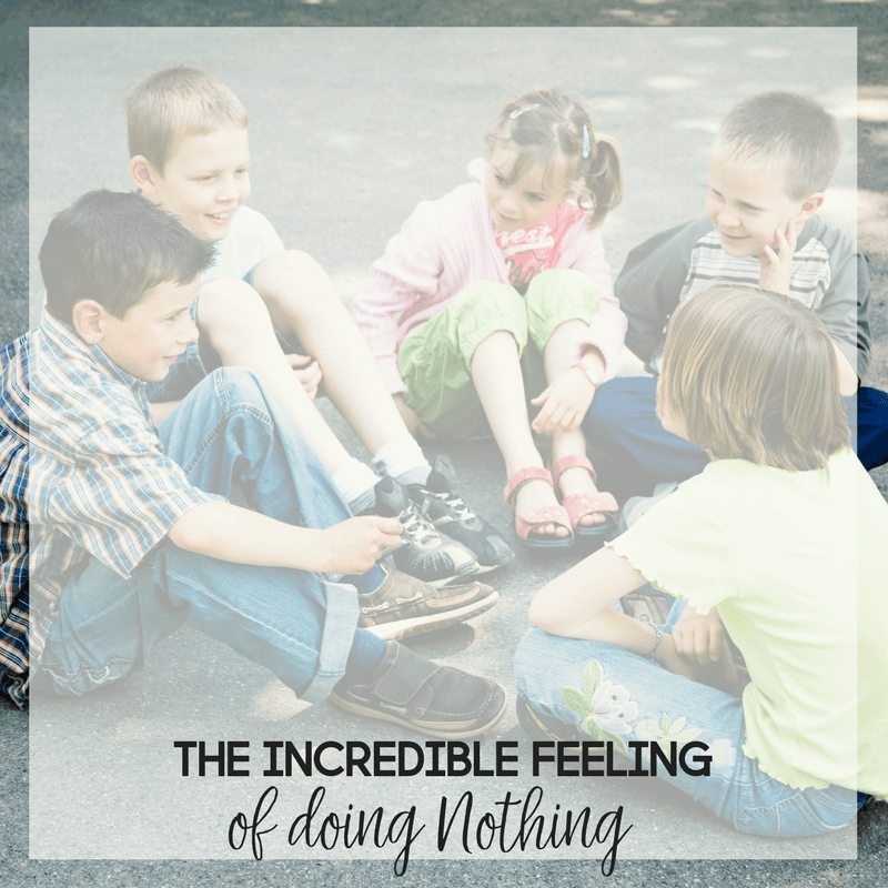The Incredible Feeling of Doing Absolutely Nothing 1