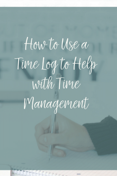 How to Use a Time Log to Help with Time Management