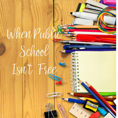 When Public School Isn't Free: How To Budget for the School Year