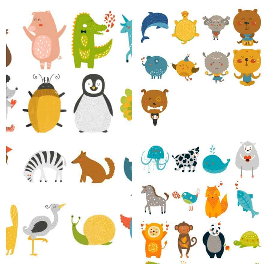 picture relating to Animal Cards Printable called Absolutely free Printable Animal Bingo Playing cards for Infants and Preschoolers