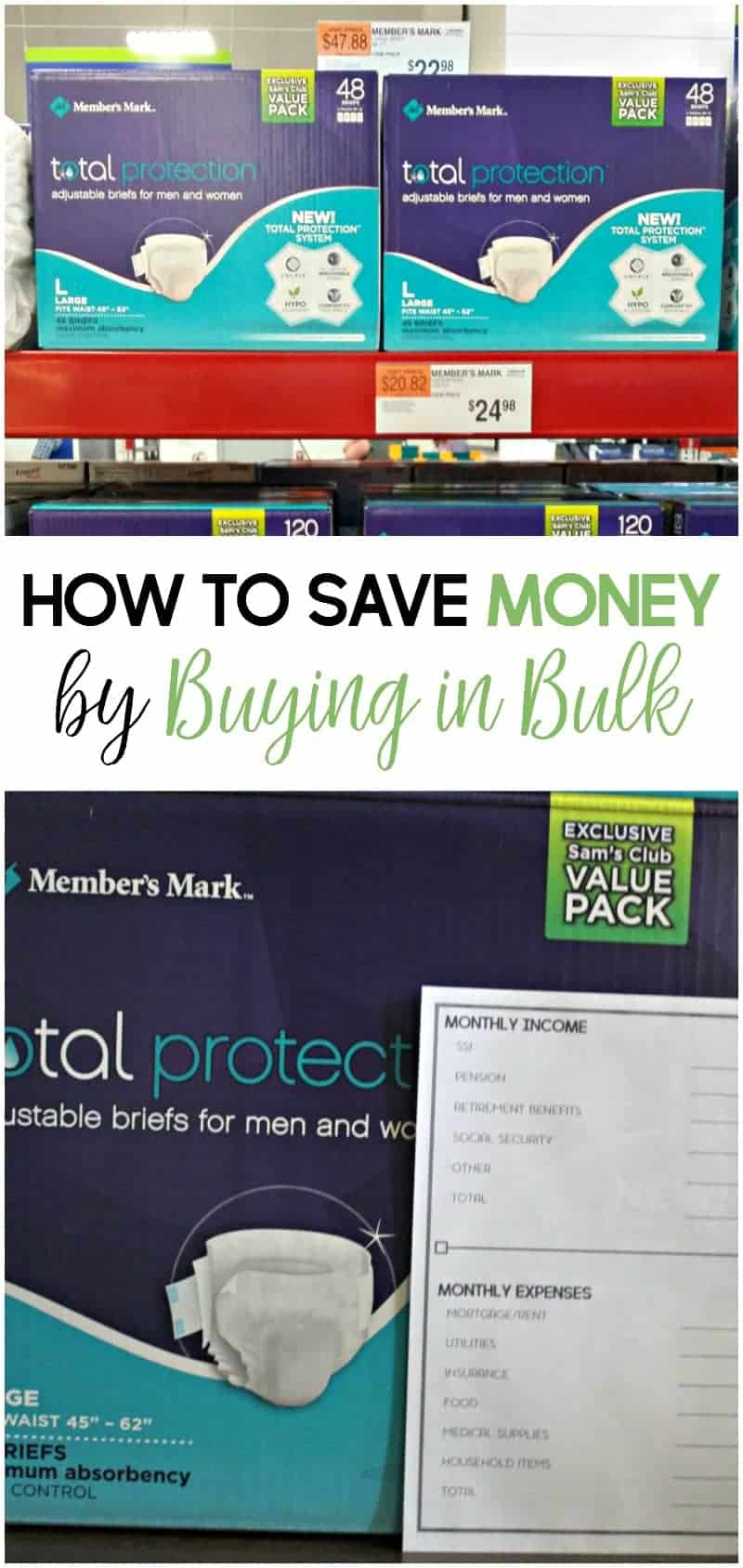 Caregiving expenses can add up quickly. Here's how to save money by buying in bulk.