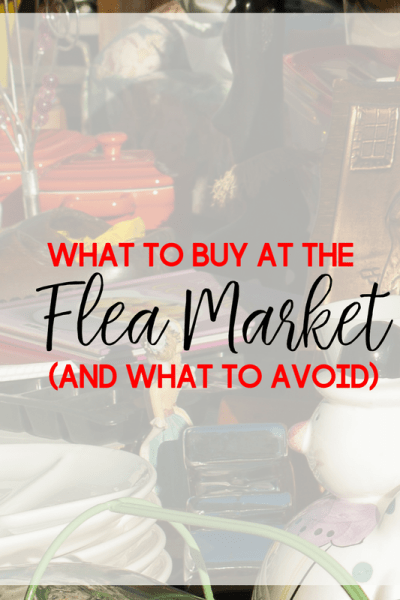 Flea markets and yard sales are sometimes filled with hidden treasures. Here are just a few things that you could buy, and a few things to avoid, at a flea market.