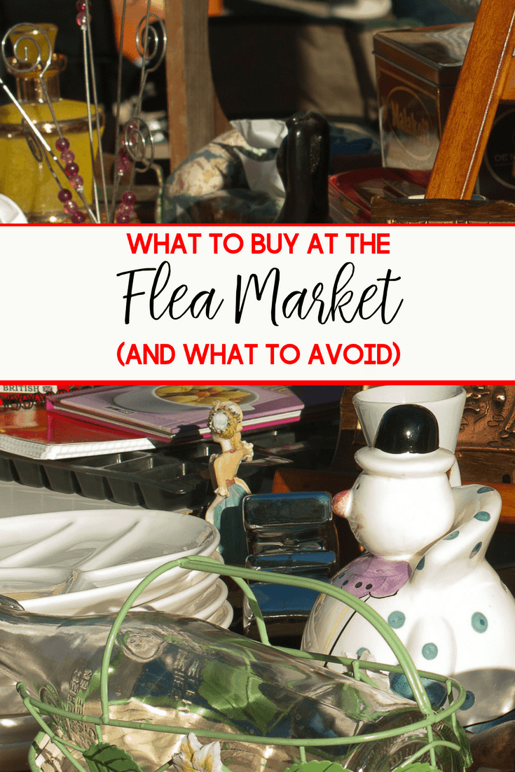 Warmer weather brings about yard sales and flea markets. Be sure to take a look at these tips on what to buy and what to avoid at a flea market before you go.