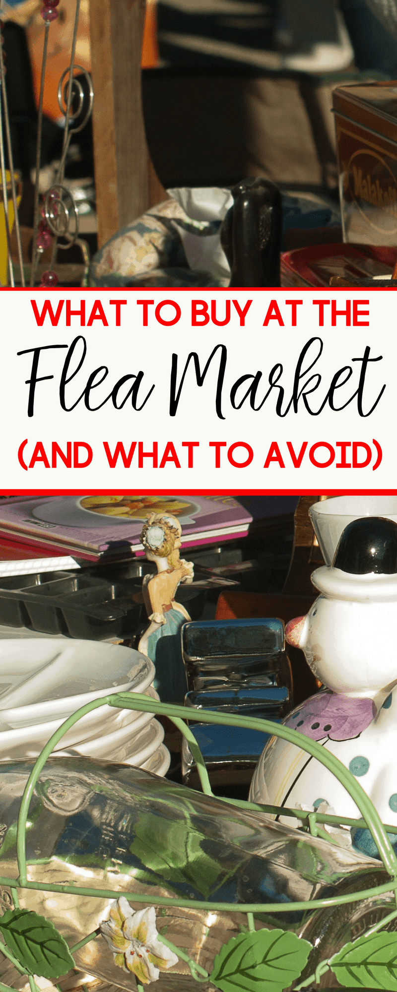 The warmer weather brings about more yard sales and flea market shopping opportunities. Make the most of your time and money with these tips on what to buy and what to avoid at a flea market or yard sale.