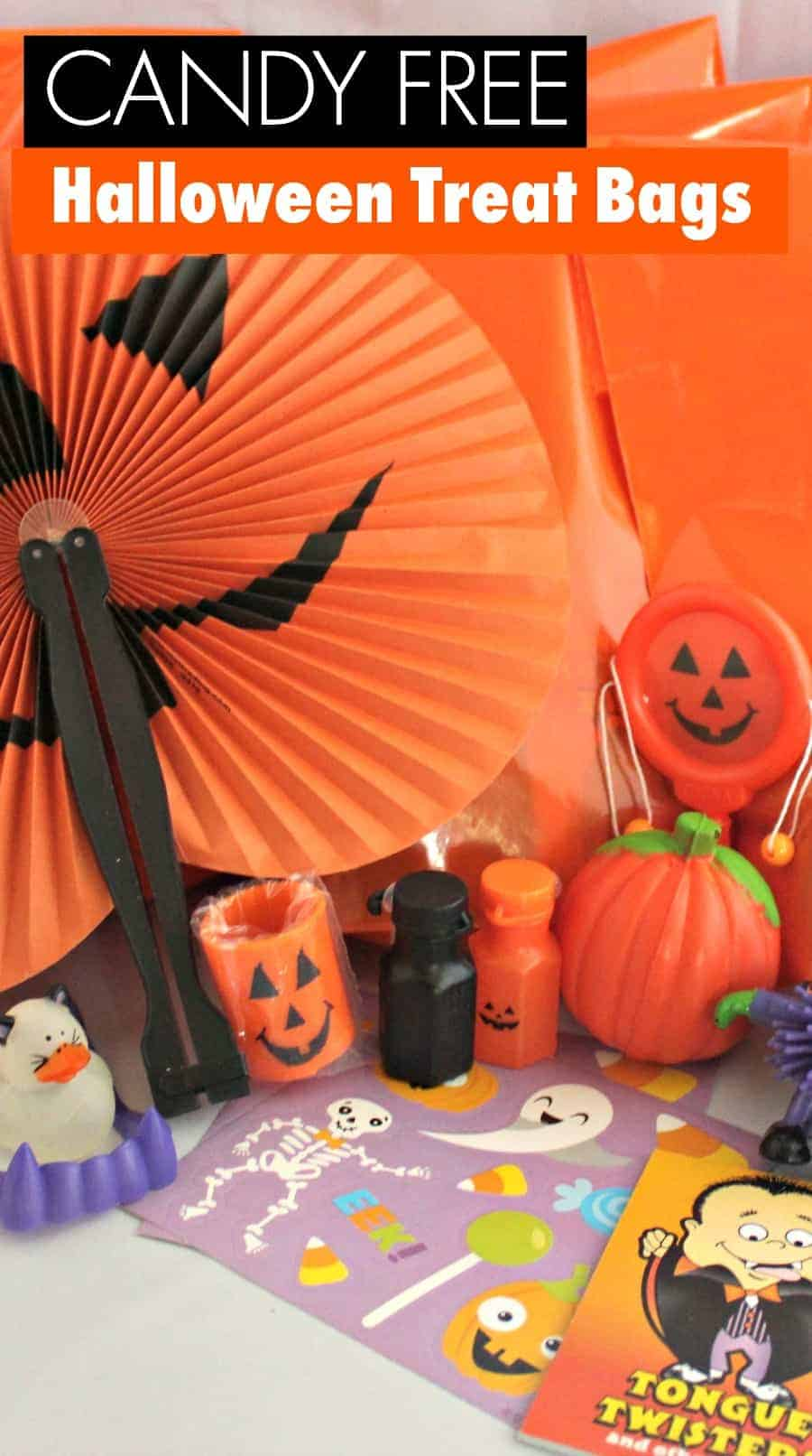 How to Assemble Candy Free Halloween Treat Bags 1