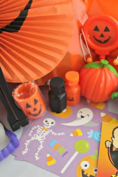 How to Assemble Candy Free Halloween Treat Bags