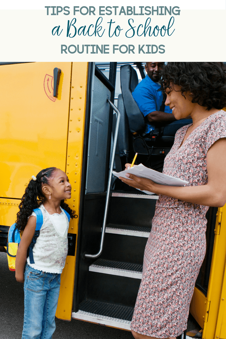 6 Tips for Establishing a Back to School Routine for Kids