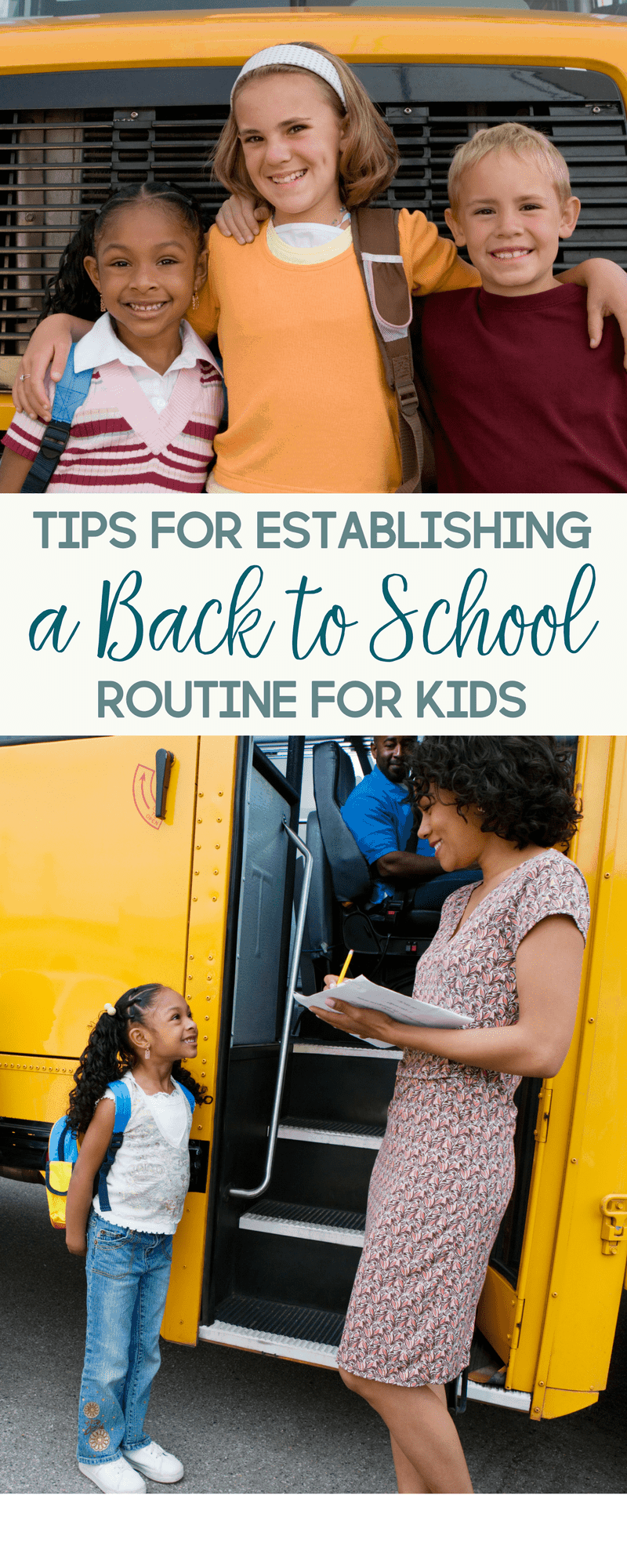 With some schools already in session and others going back soon, here are a few tips for establishing a back to school routine.