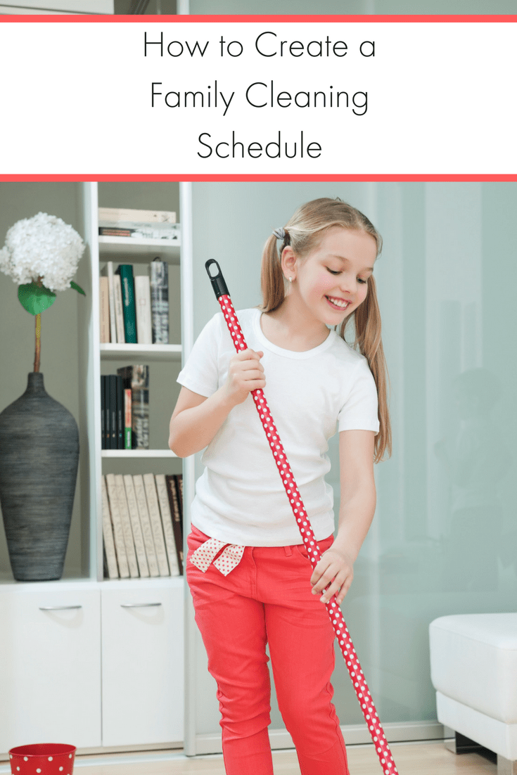 A family cleaning schedule helps get the whole family involved and keeps your house clean! It's a win-win situation for everyone.