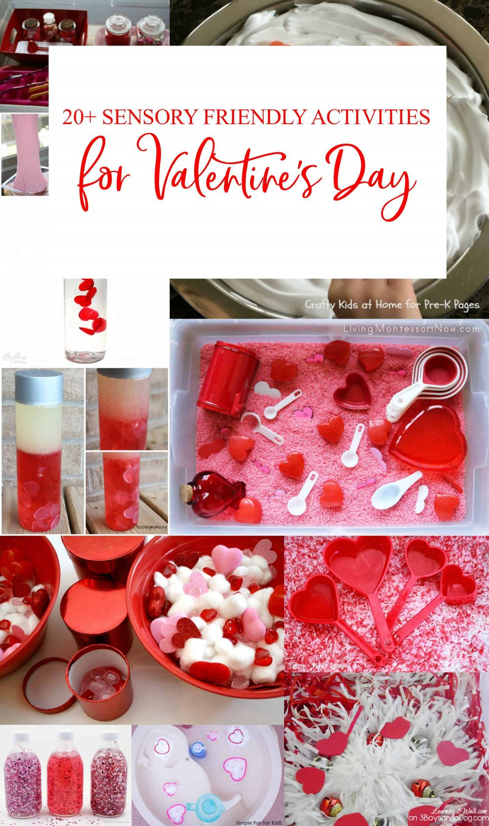 These sensory friendly Valentine's Day activities for kids can also be used for those on the autism spectrum.