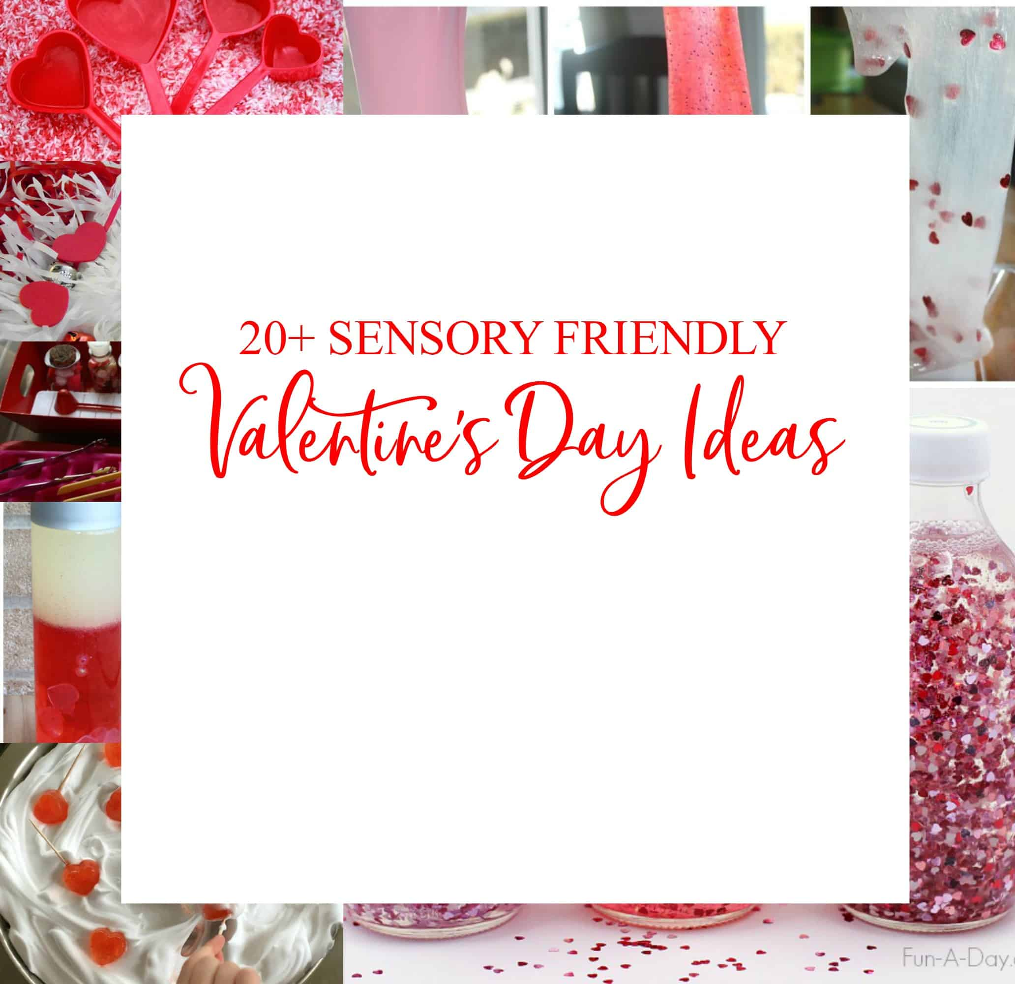 These sensory friendly Valentine's Day activities are perfect for an indoor playdate or preschool.