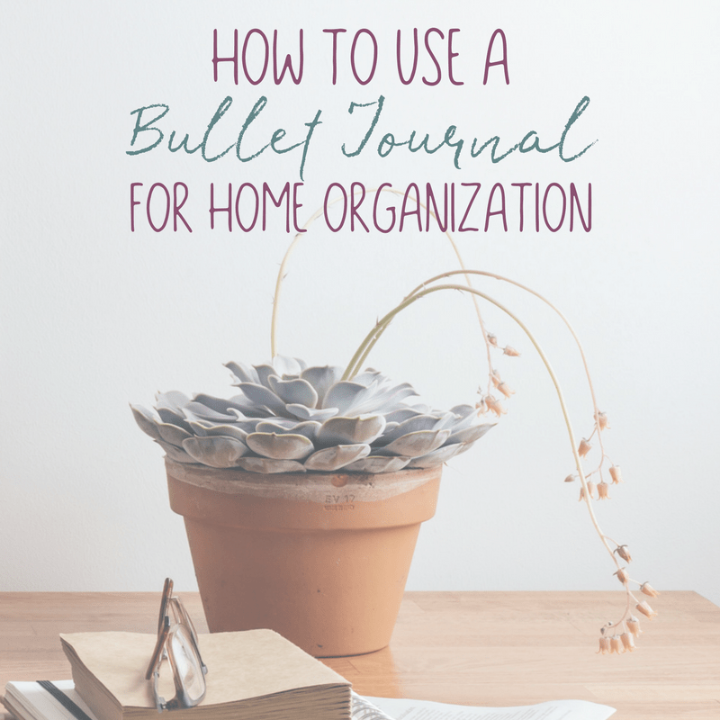 How to Use a Bullet Journal for Home Organization 1