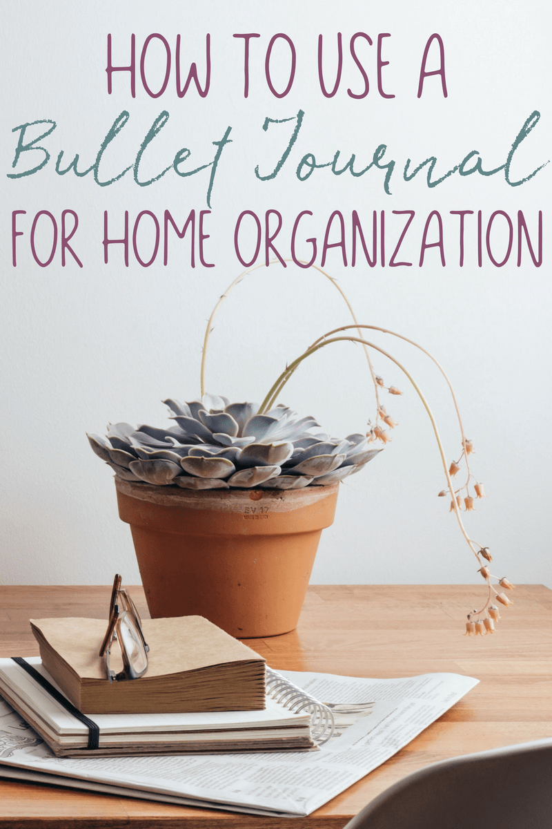 If home organization has you overwhelmed, don't give up! Here are sweet and simple tips for how to use a bullet journal for home organization and home management.