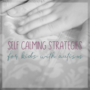 Self Calming Strategies for Kids with Autism