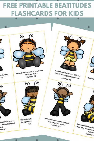 Beatitudes for Kids flashcards image