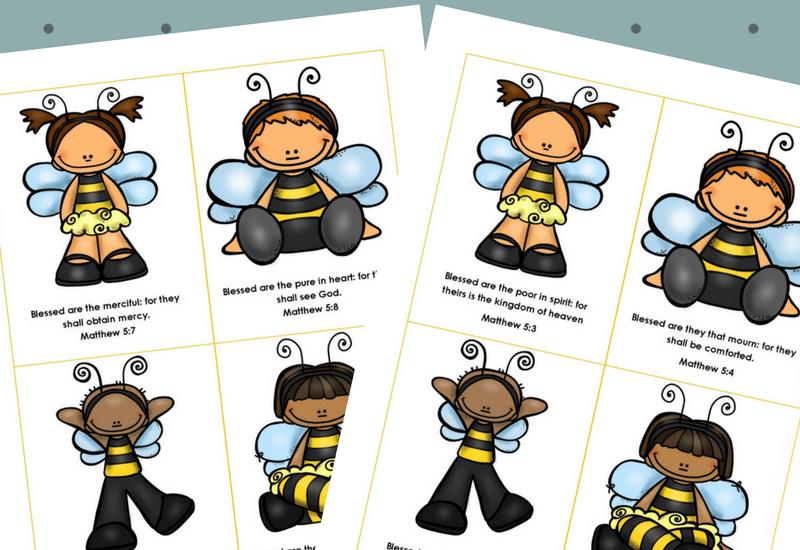 Beatitudes for Kids flashcards image
