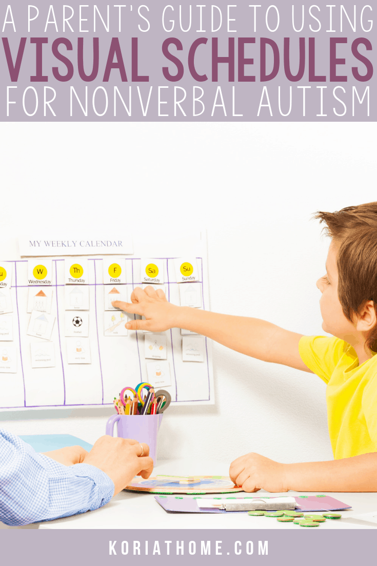The Importance of Visual Schedules for Non Verbal Autistic Children 1