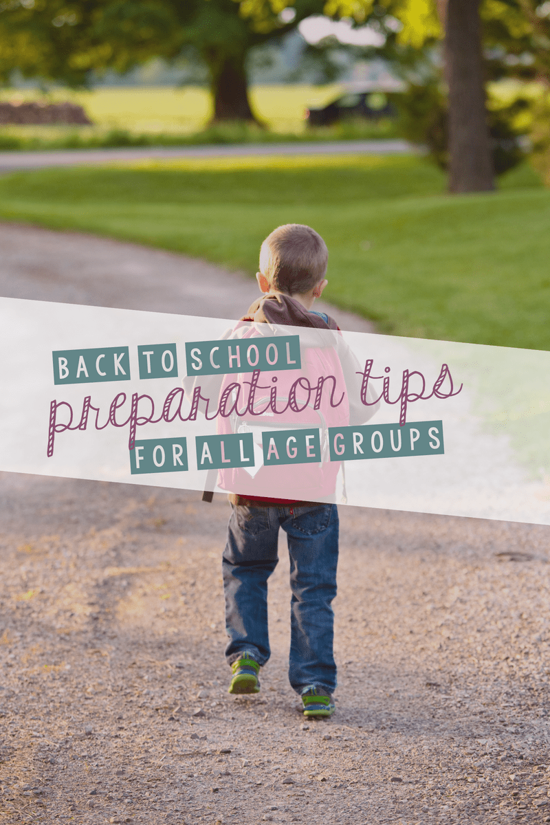 Check out these back to school preparation tips for all grades and grab a free back to school printable sign!