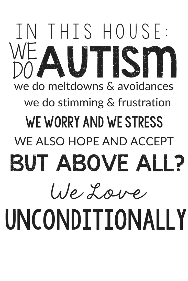 In this house we do autism wall art printable