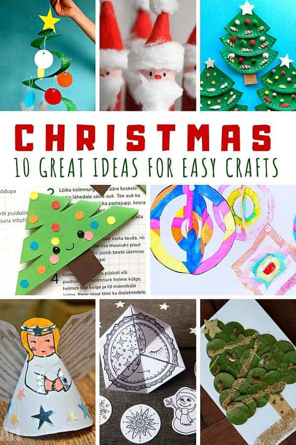 Who doesn't leave easy Christmas crafts?