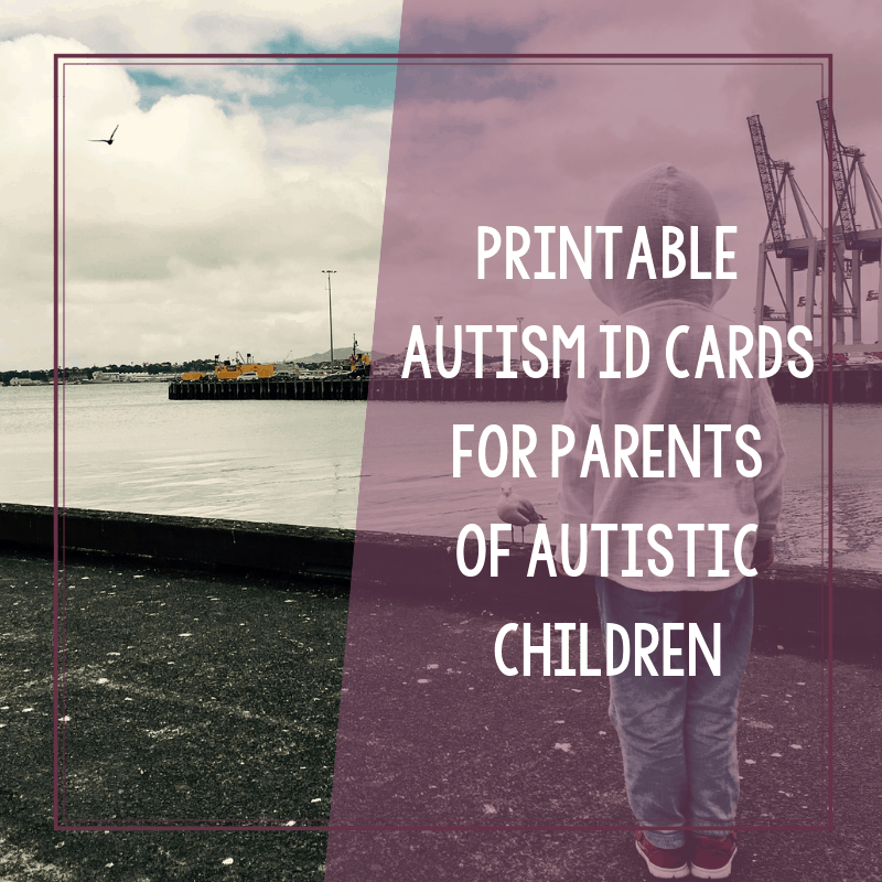 photo regarding Free Printable Child Identification Card named No cost Printable Autism Identification Playing cards for Dad and mom of Autistic Little ones