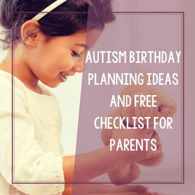 Autism Birthday Party Planning Worksheets