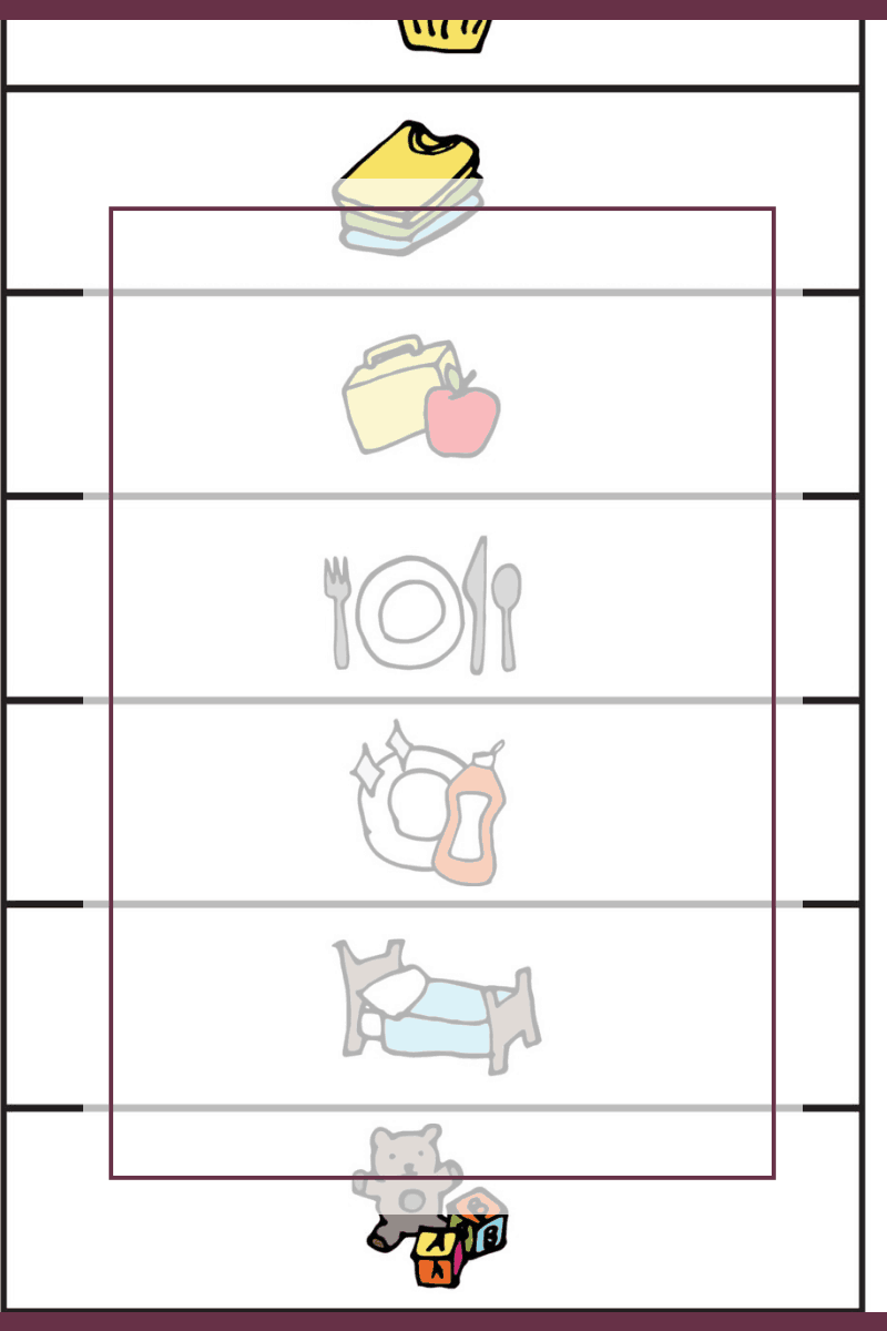 Free Chore Chart Printable for Children with Autism 1