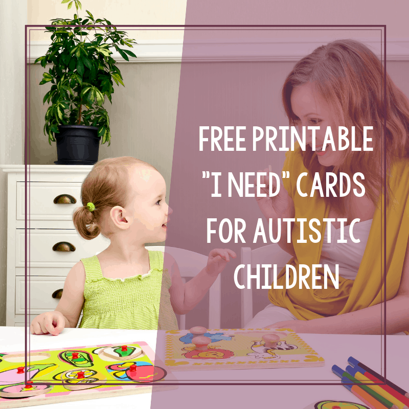 Free Printable I Need Cards for Autistic Children to Use 2