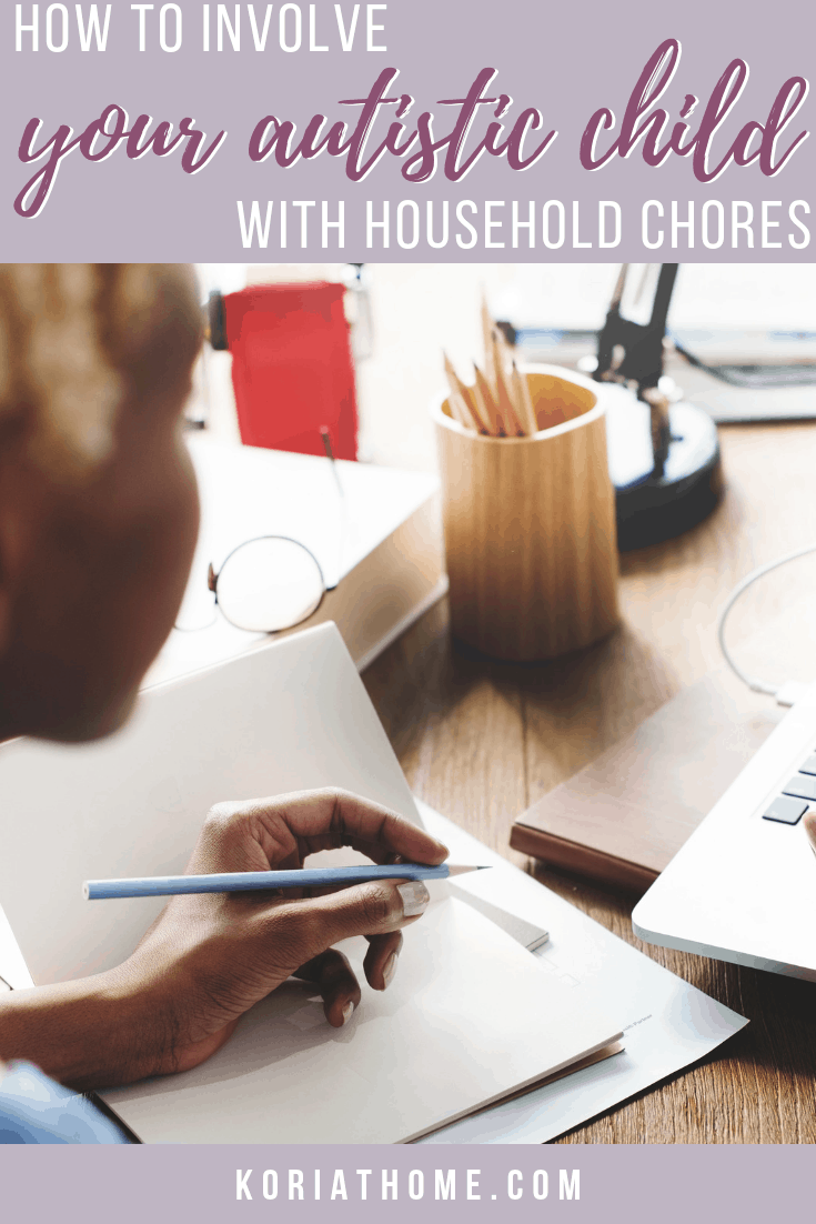 If you are looking to involve your autistic child with household chores, be sure to download a set of my free autism chore cards.