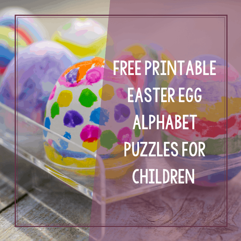 Free Printable Easter Egg Alphabet Puzzles for Autism 3