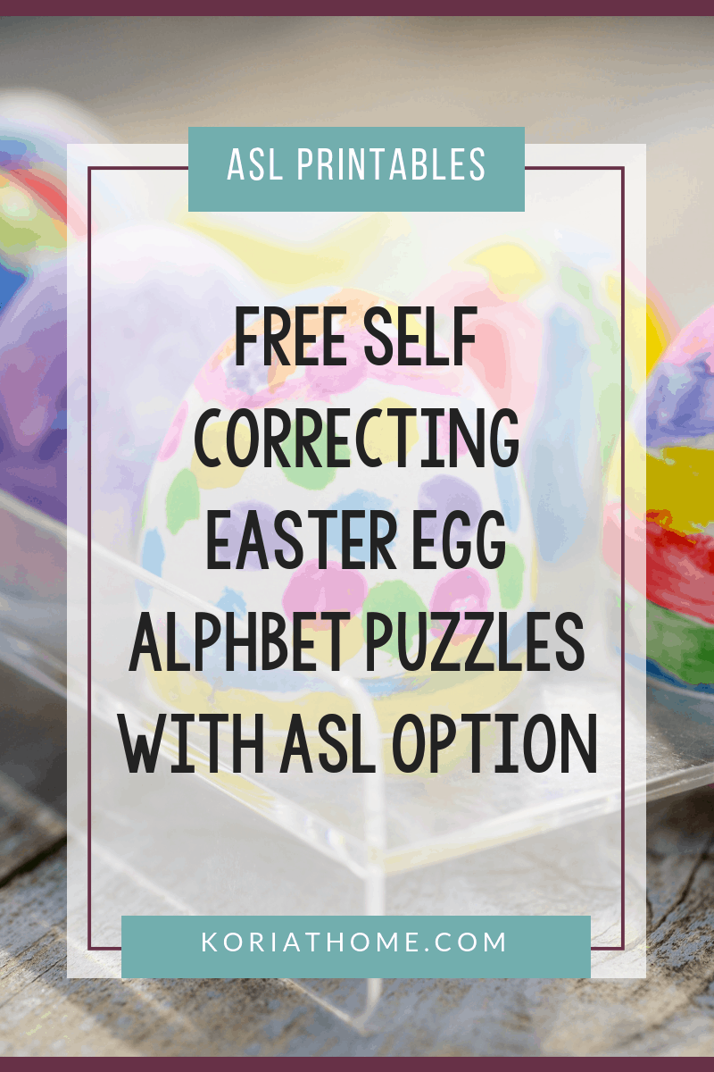Free Printable Easter Egg Alphabet Puzzles for Autism 1