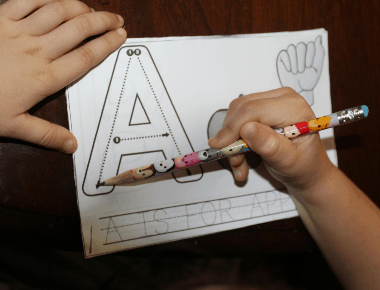 Write, Trace, and Flip ASL Alphabet Worksheets 1