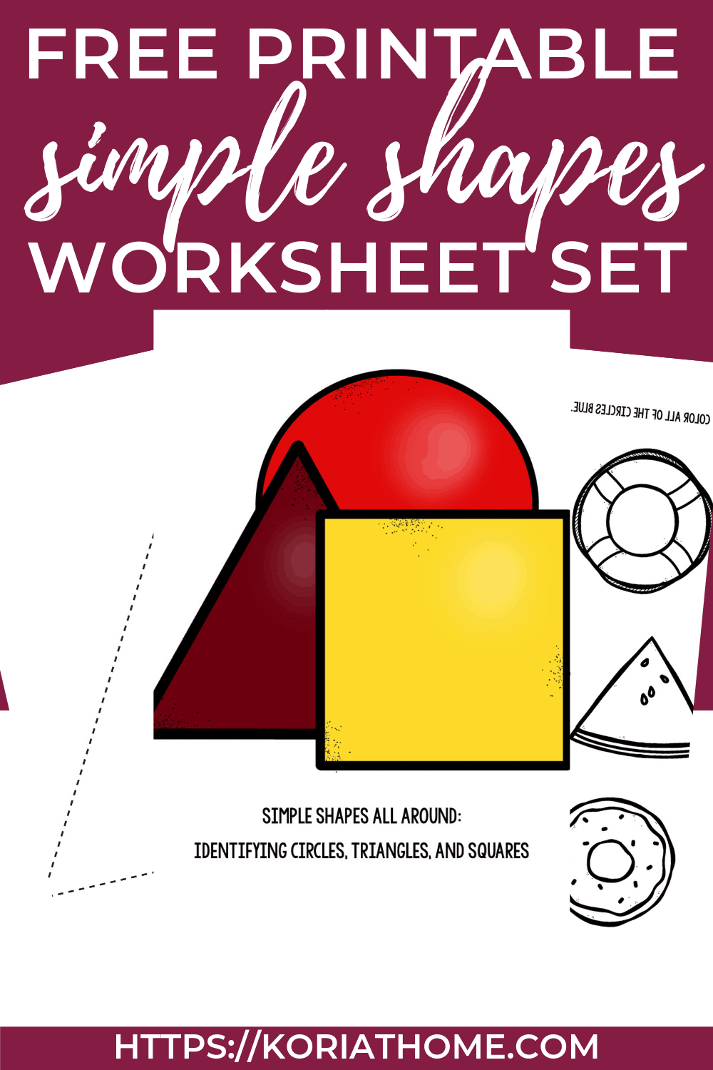 Shape Recognition Worksheet for Children with Autism 1